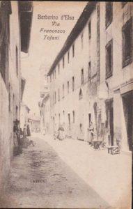 La via principale di Barberino Val d'Elsa in una vecchia foto
