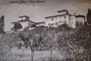 Una vecchia cartolina in cui la Villa di Spoiano è chiamata come Villa Chiostri