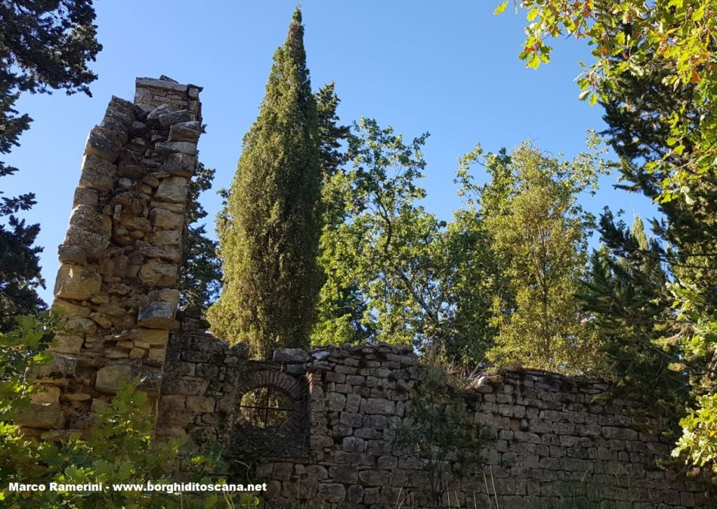 Passeggiata nel Chianti. La chiesa di San Silvestro con la finestra rotonda. Autore e Copyright Marco Ramerini