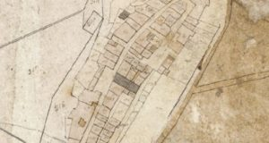 Mappa di Barberino nel 1820. Progetto C A S T O R E. Regione Toscana e Archivi di Stato toscani
