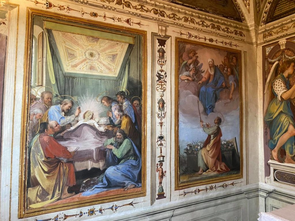 Cappella nella Fattoria Mainoni affrescata da Giovanni da San Giovanni, Vico d'Elsa. Autore Davide Baroncelli,,