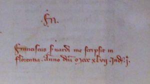 Codice Laurenziano Pluteo 90 sup. 125 presso la Biblioteca Medicea Laurenziana, Firenze