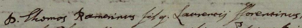 Il testamento di Tommaso Ramerini con la conferma del nome di suo padre