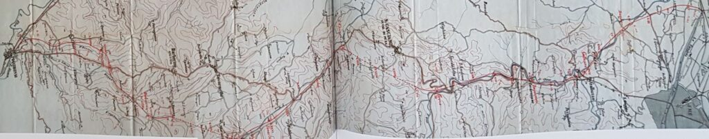 Mappa completa del tracciato proposto della Ferrovia della Val di Pesa