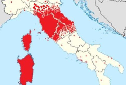 """Mappa dell'area di utilizzo della parola """"babbo"""""""