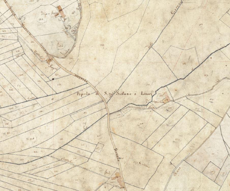 """Le località descritte nel documento si ritrovano tutte nella cartografia del nuovo catasto del Granducato di Toscana, 1820-1830 riportata on line nello splendido Progetto C A S T O R E - Regione Toscana e Archivi di Stato toscani. Si trova la """"Spada"""" dove abitavano i Salvestrini, c'è """"Acqua Viva"""" e """"Bosco a Marzi"""" e anche i """"Maggioli""""."""